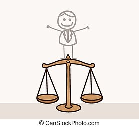 balance justice, homme