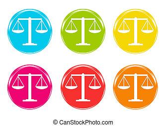 balance justice, icônes