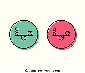 Balance line icon. Mind stability sign. Vector - Balance...