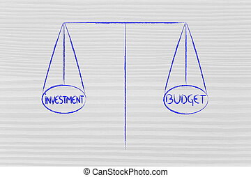 balance measuring investment and budget - investment and...