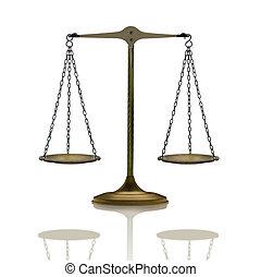 balance mirrored on white
