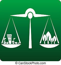 balance of development and nature