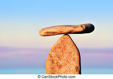 Balance of two stones