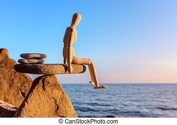 Balance on stone