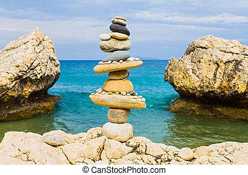 Balance on the beach