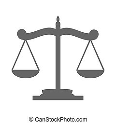Balance on the scale icon on white background