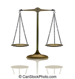 Balance - Old metallic balance