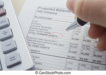 Balance presentation - financial balance sheet with...