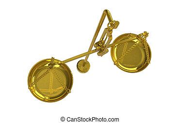 Balance Scale, Brass.