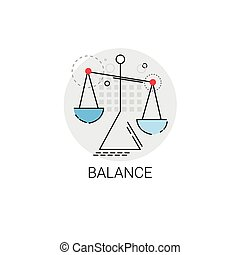 Balance Scale Economic Business Icon