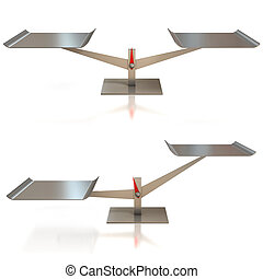 balance scale 3d illustration