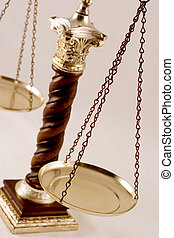 Balance scale. Symbol of justice, pharmacology, precision, ...