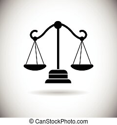Balance Scale Web Icon Flat Vector Illustration