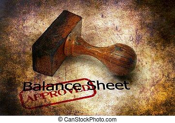 Balance sheet - approved grunge concept