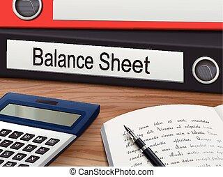 balance sheet binders
