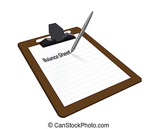 Balance sheet clipboard
