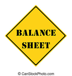 Balance Sheet Sign