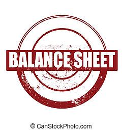 balance sheet stamp - balance sheet grunge stamp with on...