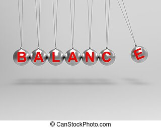 Balance Spheres Shows Balanced life Or Equilibrium