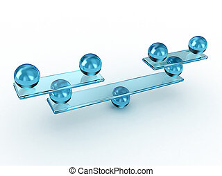 Balance - Illustration of scales with spheres, as a balance...