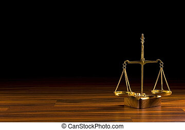 balance - old balance  in wood background