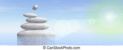 Balance stones - 3D render