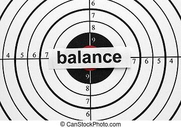 Balance target