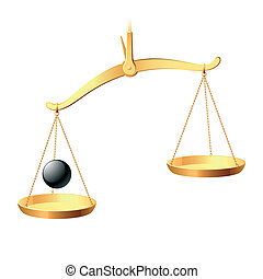 Vector illustration of a balance. You may easy accent it equilibrium.