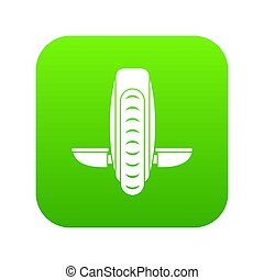 Balance vehicle icon digital green for any design isolated...