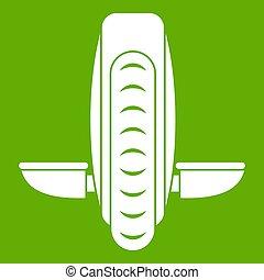 Balance vehicle icon green - Balance vehicle icon white...