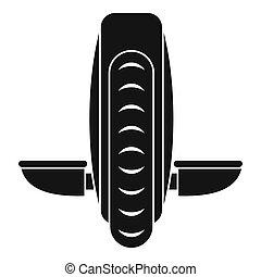 Balance vehicle icon, simple style