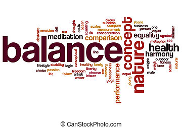 Balance word cloud concept