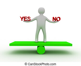 balance yes and no 3d
