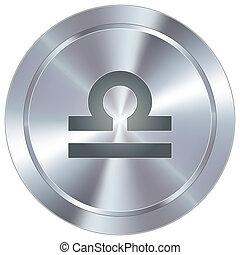 balance, zodiaque, sur, industriel, bouton