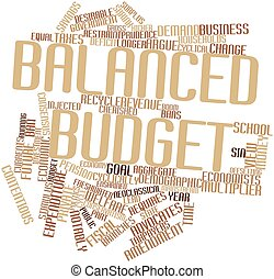 Balanced budget - Abstract word cloud for Balanced budget...