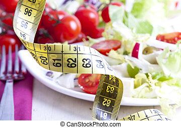 Tape bottom food vegetable healthy diet