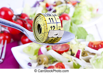 balanced Diet - Tape bottom food vegetable healthy diet