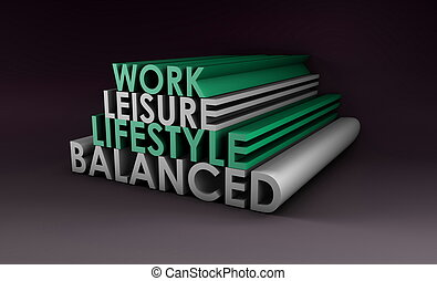 Balanced Lifestyle Concept as a Abstract in 3d