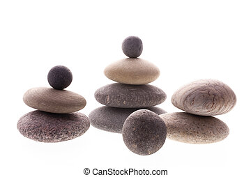 Balanced pebbles - Close up of balanced pebbles