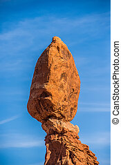 Balanced Rock in Arches National Park near Moab  Utah at sunset