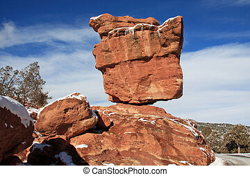 Balanced Rock, in the Garden of the Gods park, near Colorado...