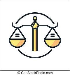 balanced scale icon color