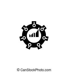 Balanced scorecard black icon concept. Balanced scorecard flat vector symbol, sign, illustration.