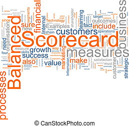 Balanced scorecard - Word cloud concept illustration of...