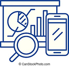 Balanced scorecard line icon concept. Balanced scorecard flat vector symbol, sign, outline illustration.