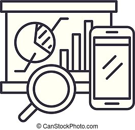 Balanced scorecard line icon concept. Balanced scorecard vector linear illustration, symbol, sign