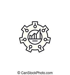 Balanced scorecard linear icon concept. Balanced scorecard line vector sign, symbol, illustration.