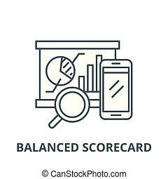 Balanced scorecard vector line icon, linear concept, outline sign, symbol