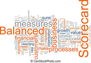 Balanced scorecard - Word cloud concept illustration of...