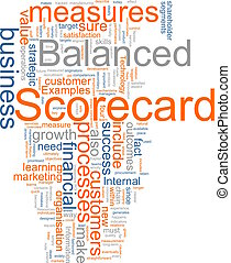 Balanced scorecard - Word cloud concept illustration of ...